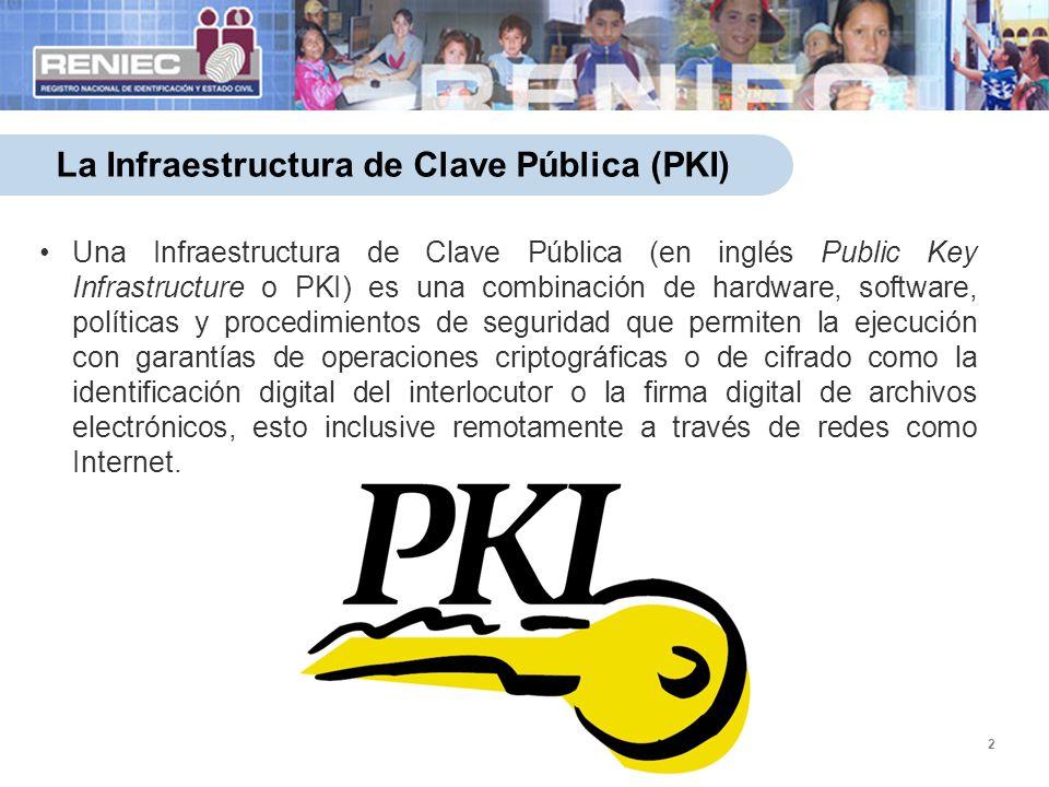 2 La Infraestructura de Clave Pública (PKI) Una Infraestructura de Clave Pública (en inglés Public Key Infrastructure o PKI) es una combinación de har