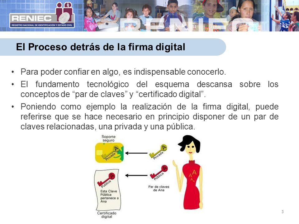 14 La firma digital y las políticas de Estado Contribuye al Plan Nacional de Simplificación Administrativa donde se señala que hacia diciembre del 2014, el 10% de los procedimientos y servicios administrativos podrán ser realizados en línea por la ciudadanía.