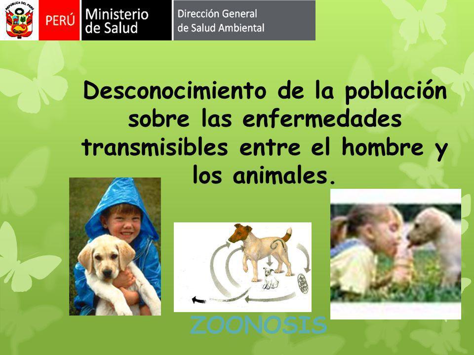 Desconocimiento de la población sobre las enfermedades transmisibles entre el hombre y los animales. ZOONOSIS