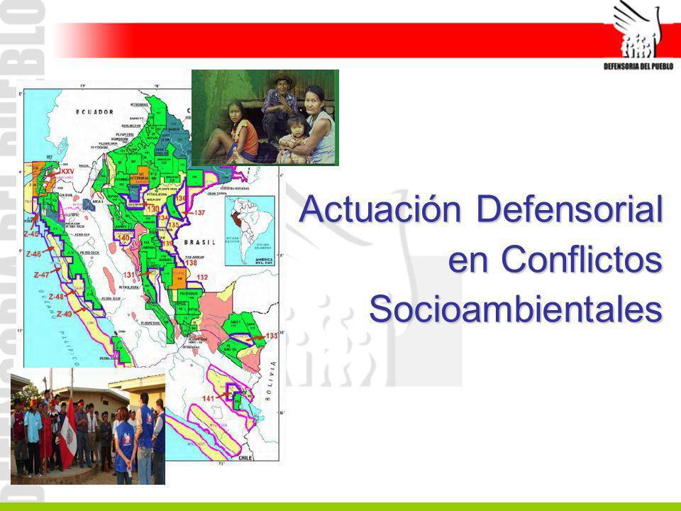 Actuación Defensorial en Conflictos Socioambientales