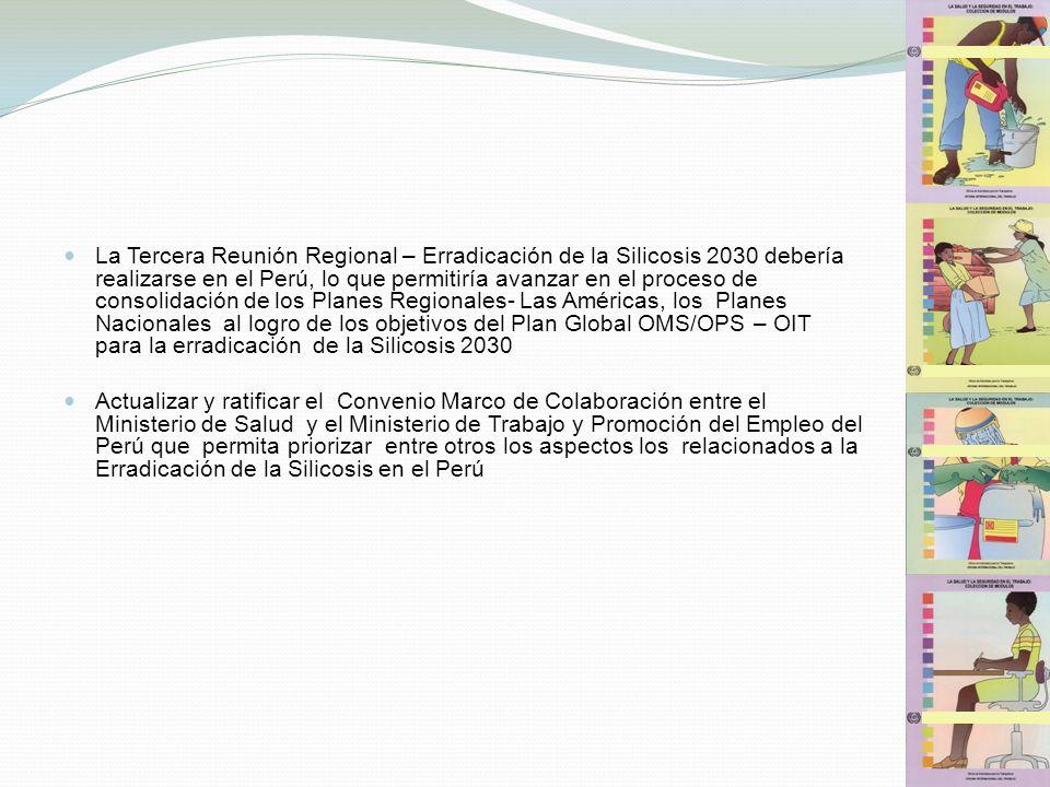 La Tercera Reunión Regional – Erradicación de la Silicosis 2030 debería realizarse en el Perú, lo que permitiría avanzar en el proceso de consolidació