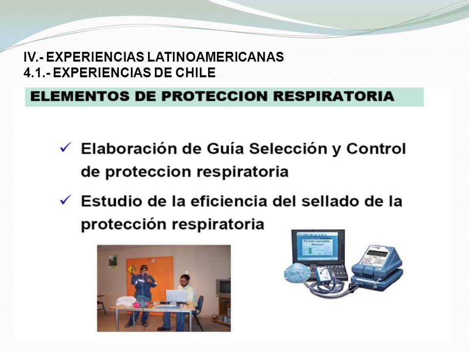 IV.- EXPERIENCIAS LATINOAMERICANAS 4.1.- EXPERIENCIAS DE CHILE