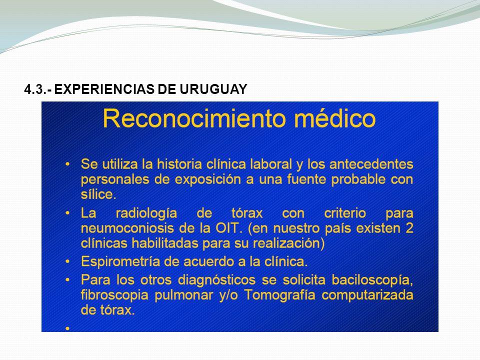 4.3.- EXPERIENCIAS DE URUGUAY