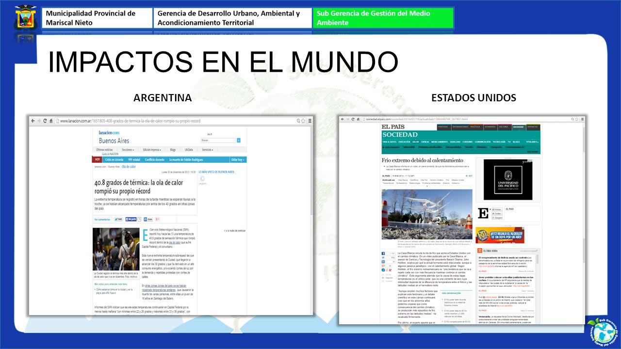 ARGENTINAESTADOS UNIDOS IMPACTOS EN EL MUNDO
