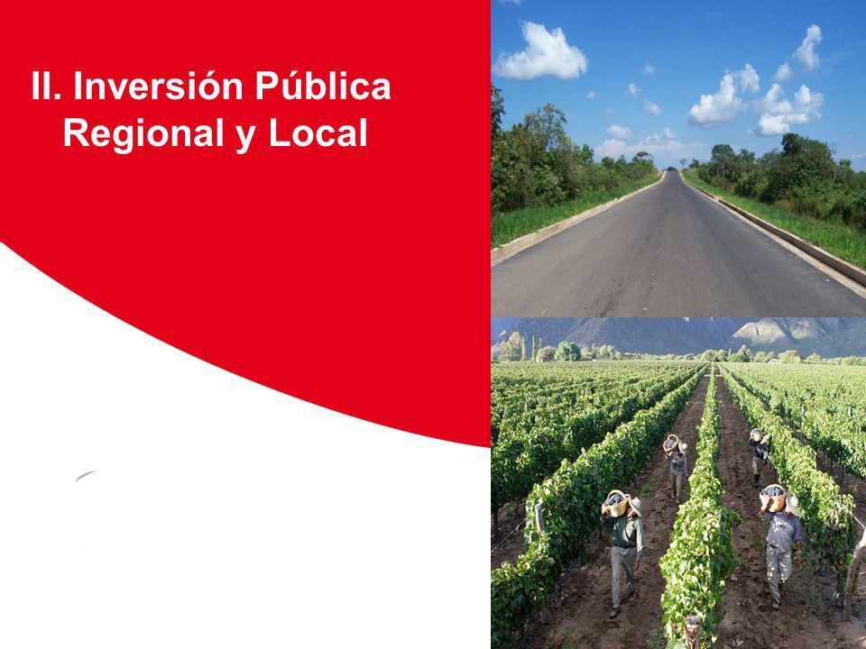 II. Inversión Pública Regional y Local Viñedos Floricultura Huanuco