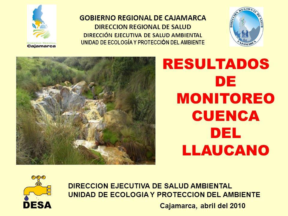 DIRECCION EJECUTIVA DE SALUD AMBIENTAL UNIDAD DE ECOLOGIA Y PROTECCION DEL AMBIENTE Cajamarca, abril del 2010 GOBIERNO REGIONAL DE CAJAMARCA DIRECCION