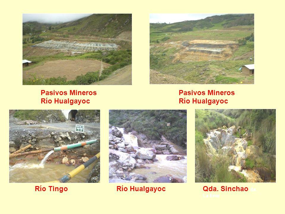 Pasivos Mineros Río Hualgayoc Qda. Sinchao da. La Eme Río Tingo Pasivos Mineros Río Hualgayoc Río Hualgayoc