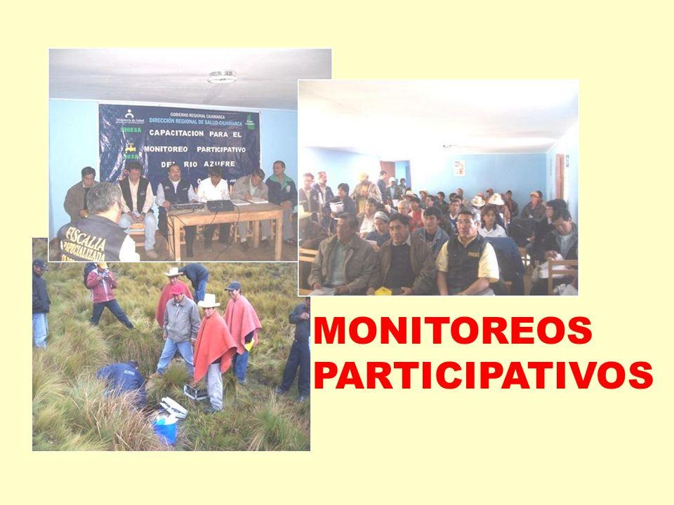 MONITOREOS PARTICIPATIVOS