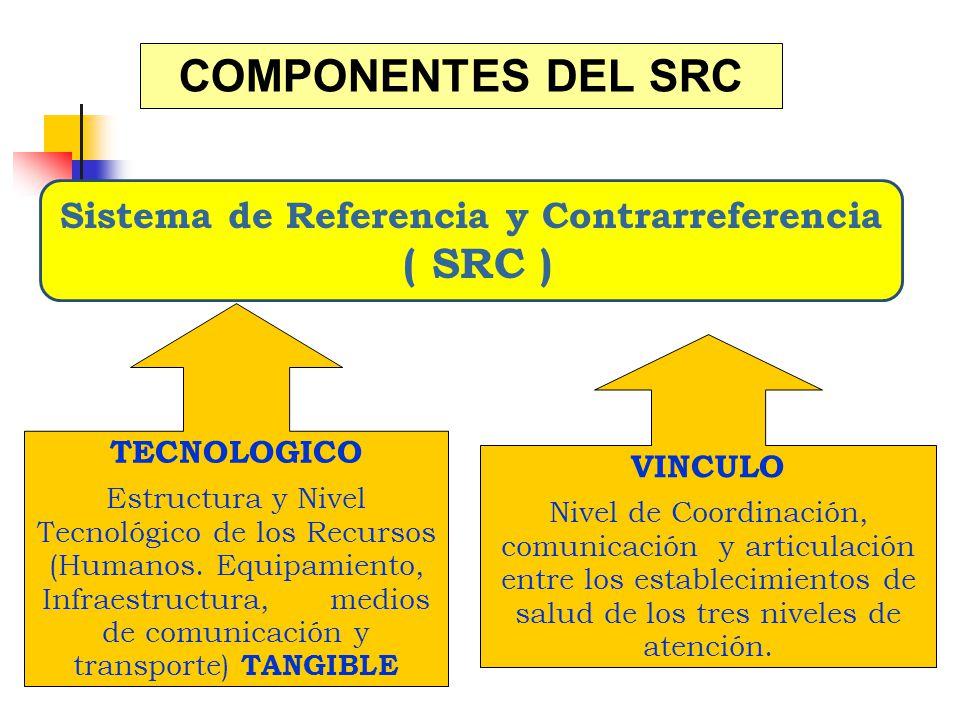 COMPONENTES DEL SRC TECNOLOGICO Estructura y Nivel Tecnológico de los Recursos (Humanos. Equipamiento, Infraestructura, medios de comunicación y trans