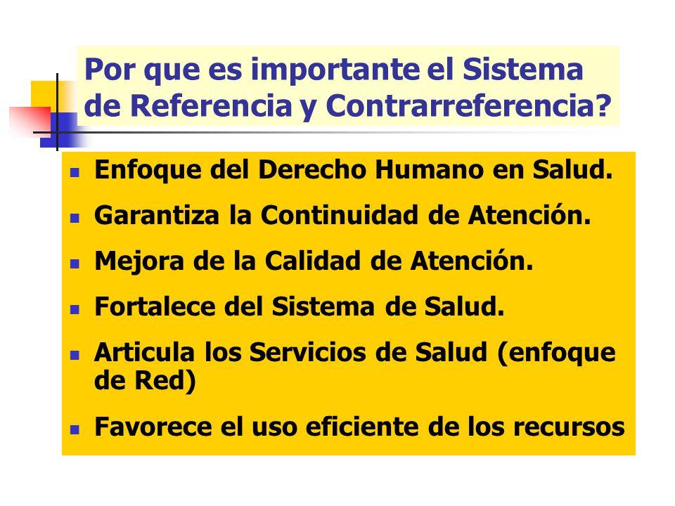 HUMANOS: El SRC contará con el recurso humano existente en los establecimientos de salud, teniendo la designación de un responsable del SRC de acuerdo a la complejidad del Establecimiento.
