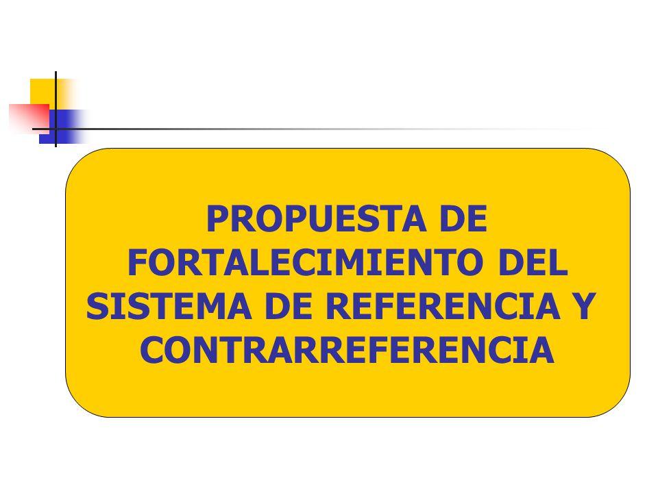PROPUESTA DE FORTALECIMIENTO DEL SISTEMA DE REFERENCIA Y CONTRARREFERENCIA