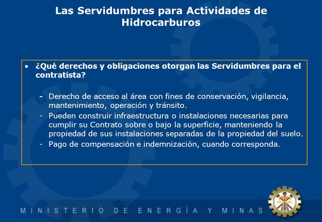 Las Servidumbres para Actividades de Hidrocarburos ¿Qué derechos y obligaciones otorgan las Servidumbres para el contratista? - Derecho de acceso al á