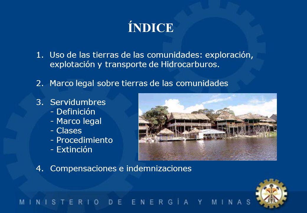 TEMA I Uso de las Tierras de Comunidades Nativas por Actividades de Hidrocarburos