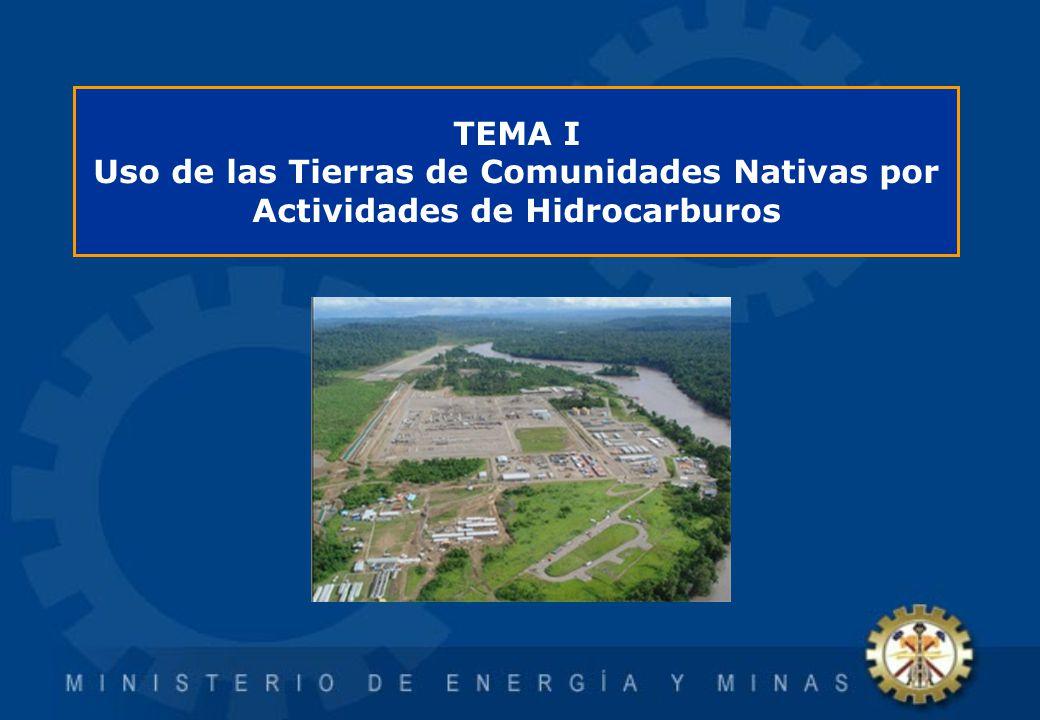 Uso de las Tierras de Comunidades Nativas por Actividades de Hidrocarburos Principalmente se da por tres actividades: Exploración Explotación Transporte