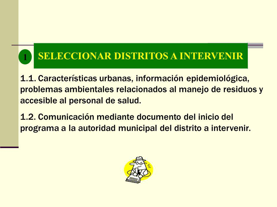 SELECCIONAR DISTRITOS A INTERVENIR 1 1.1.
