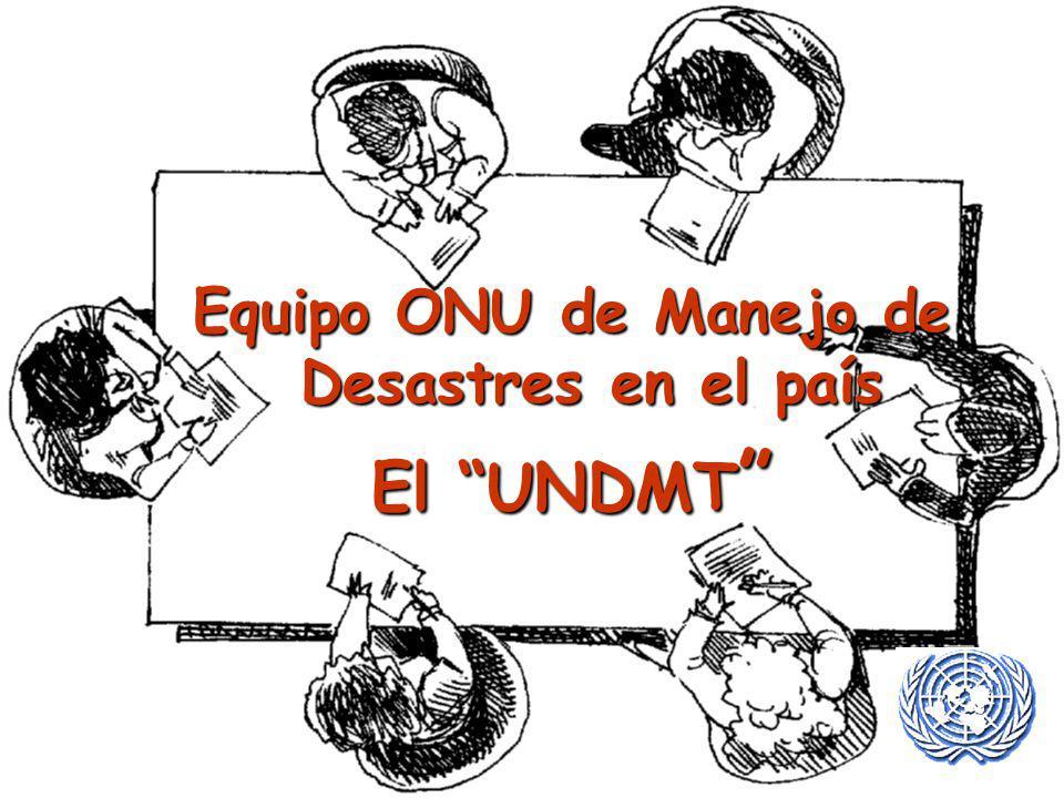 Equipo ONU de Manejo de Desastres en el país El UNDMT El UNDMT