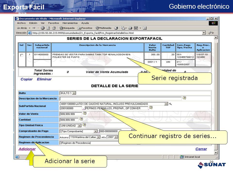Gobierno electrónico PRENDAS DE VESTIR PARA DAMAS TANK TOP 40 % ALGODON 60 % POLIESTER DE PUNTO Registrar productos de la serie Adicionar la serie Val