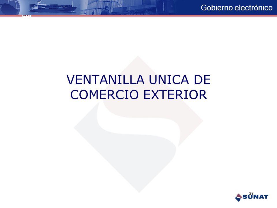 Gobierno electrónico Proyectos E-gov en Desarrollo DESARROLLO DE PROYECTOS DE GOBIERNO ELECTRONICO SUNAT DESARROLLO DE PROYECTOS DE GOBIERNO ELECTRONI