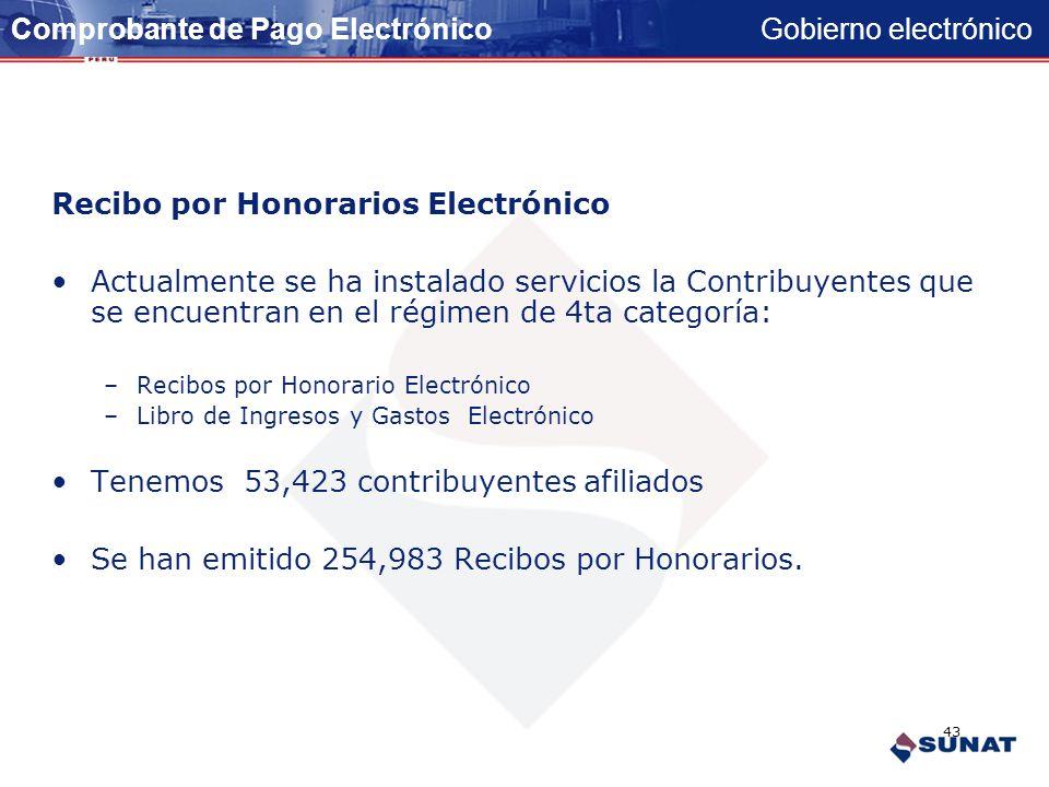 Gobierno electrónico COMPROBANTES DE PAGO Y LIBROS CONTABLES ELECTRÓNICOS 42