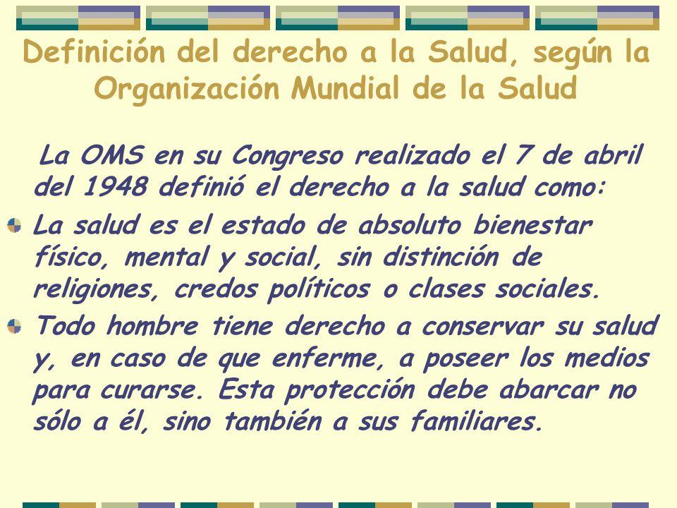 La salud en la Declaración Universal de los Derechos Humanos, ART.