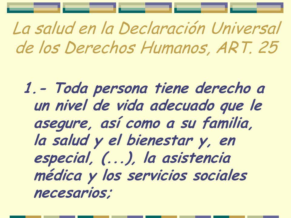 El Derecho a la Salud en el Protocolo de San Salvador Art.