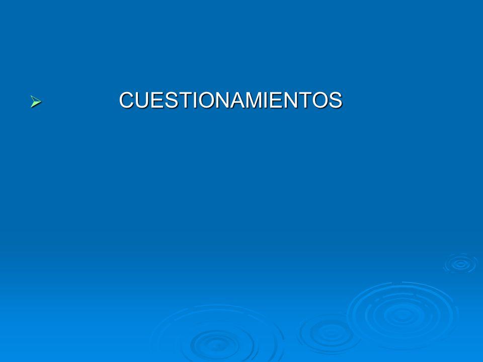 CUESTIONAMIENTOS CUESTIONAMIENTOS