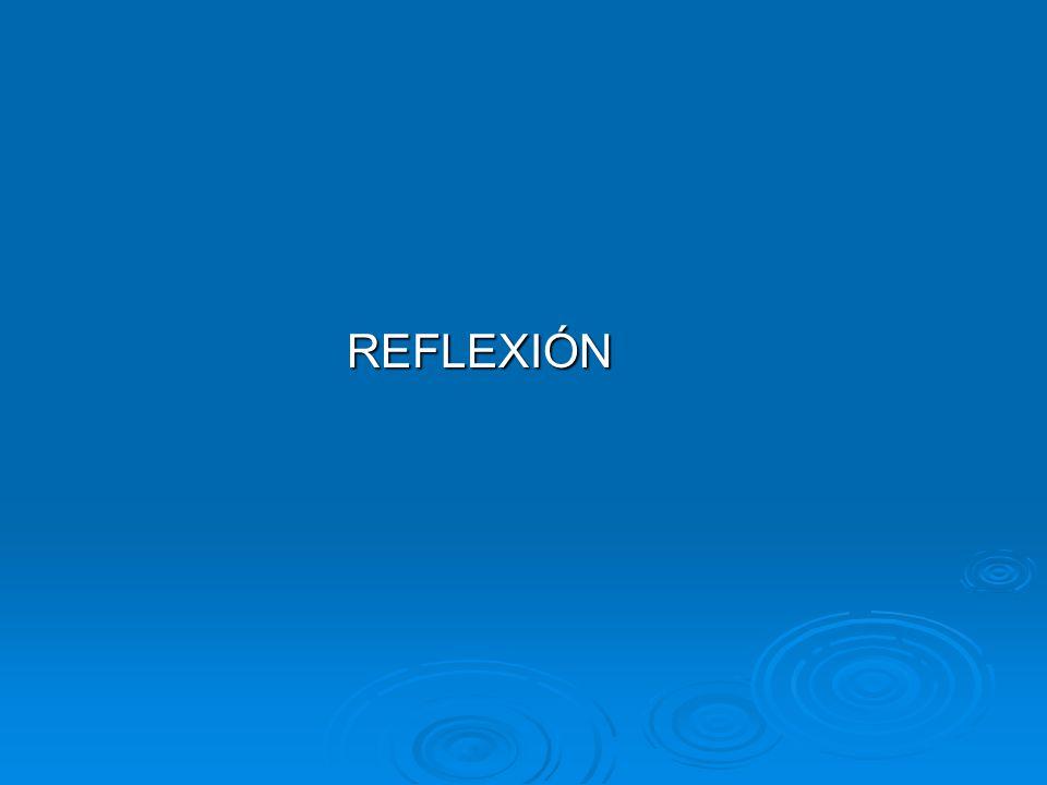 REFLEXIÓN REFLEXIÓN
