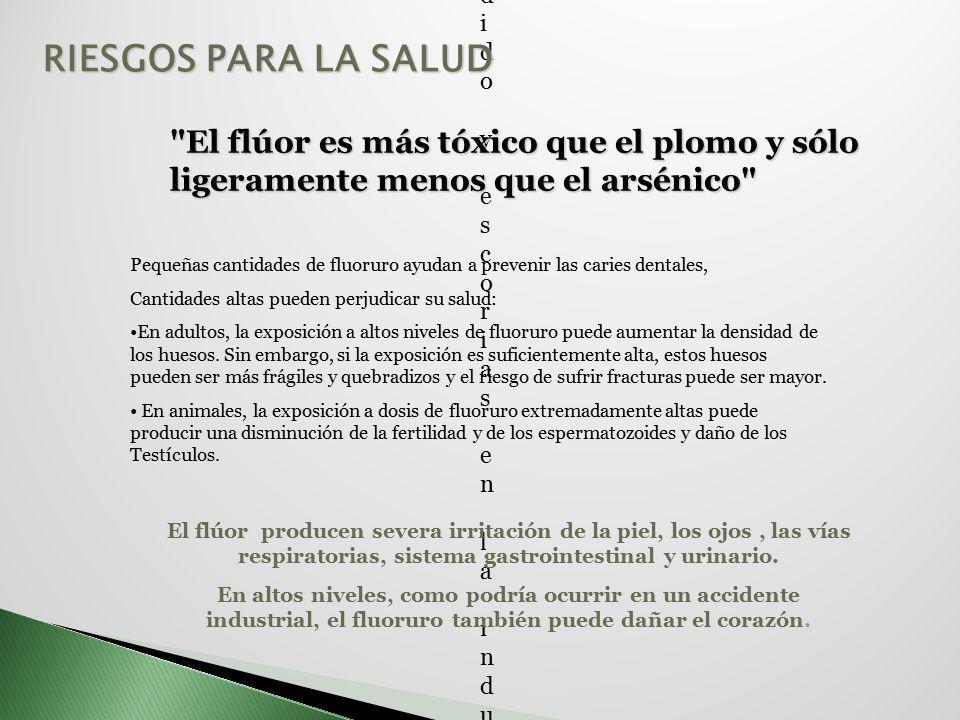 Aplicaciones: Los compuestos que contienen flúor se utilizan para incrementar la fluidez del vidrio fundido y escorias en la industria vidriera y cerá