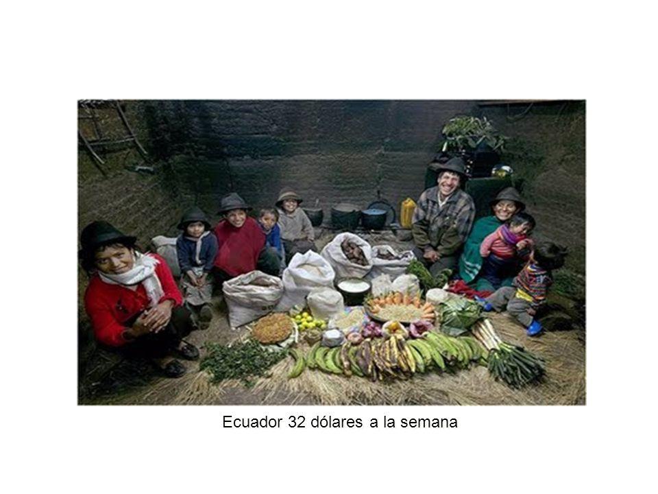 Ecuador 32 dólares a la semana