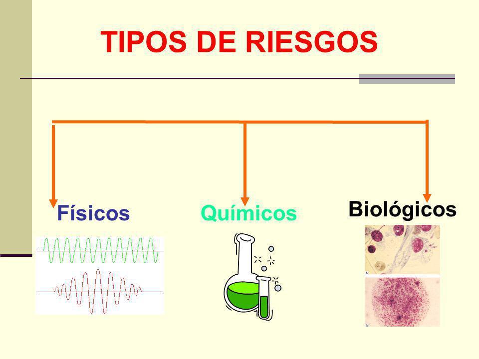TIPOS DE RIESGOS Químicos Biológicos Físicos