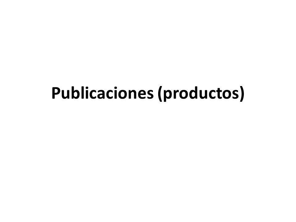 Publicaciones (productos)