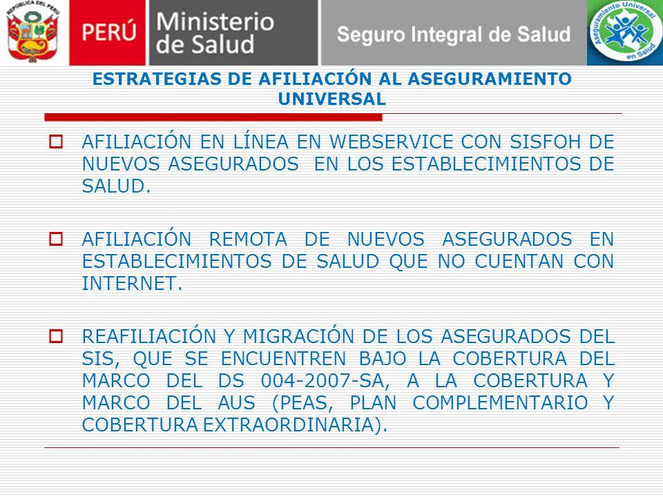 DEBILIDADES DE LA ESTRATEGIA NO TODOS LOS PERUANOS TIENEN DNI.