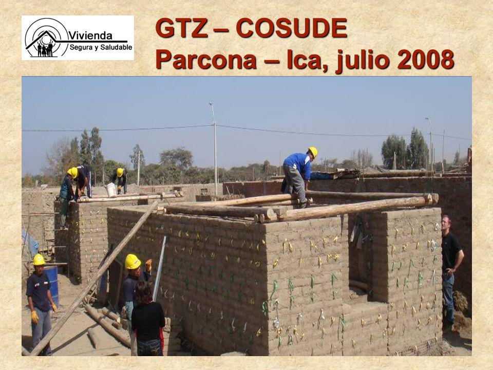 GTZ – COSUDE Parcona – Ica, julio 2008