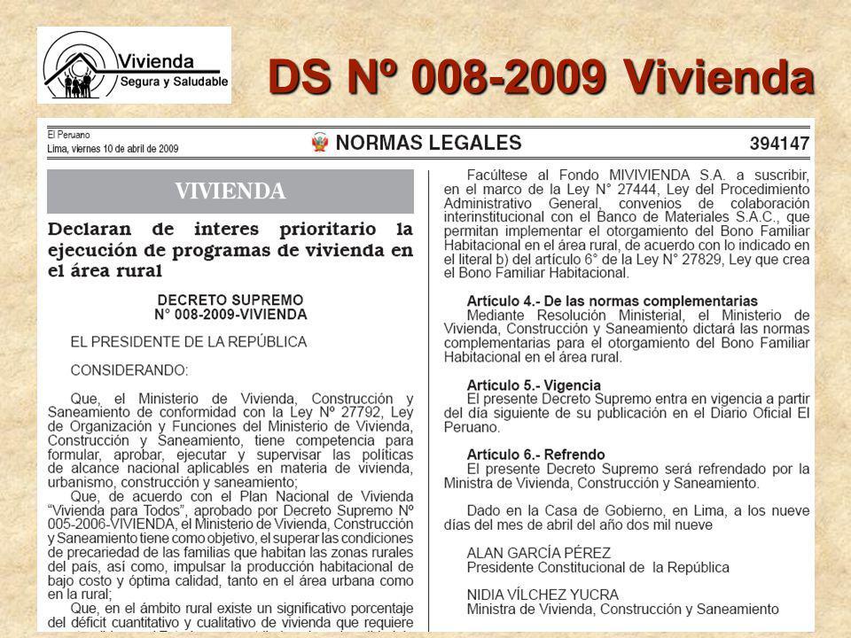 DS Nº 008-2009 Vivienda