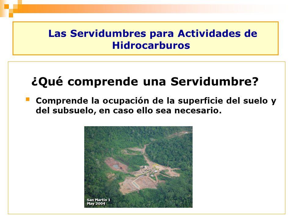 Las Servidumbres para Actividades de Hidrocarburos Comprende la ocupación de la superficie del suelo y del subsuelo, en caso ello sea necesario. ¿Qué