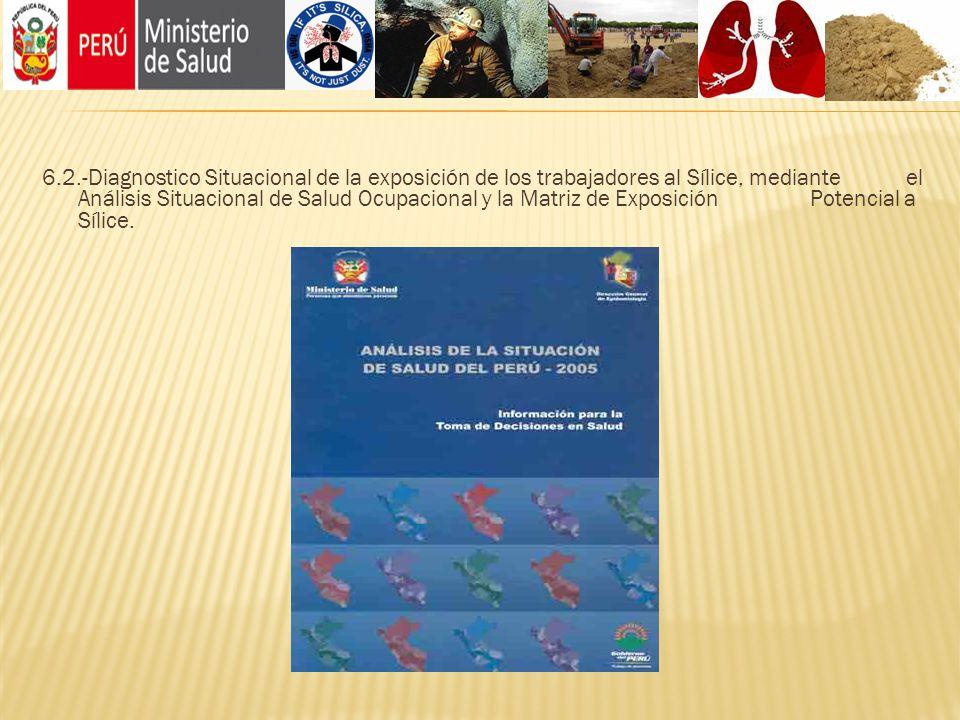 6.2.-Diagnostico Situacional de la exposición de los trabajadores al Sílice, mediante el Análisis Situacional de Salud Ocupacional y la Matriz de Expo
