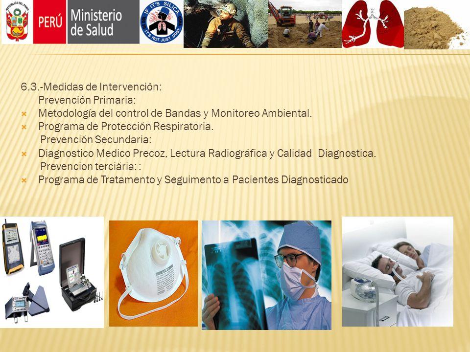 6.3.-Medidas de Intervención: Prevención Primaria: Metodología del control de Bandas y Monitoreo Ambiental. Programa de Protección Respiratoria. Preve