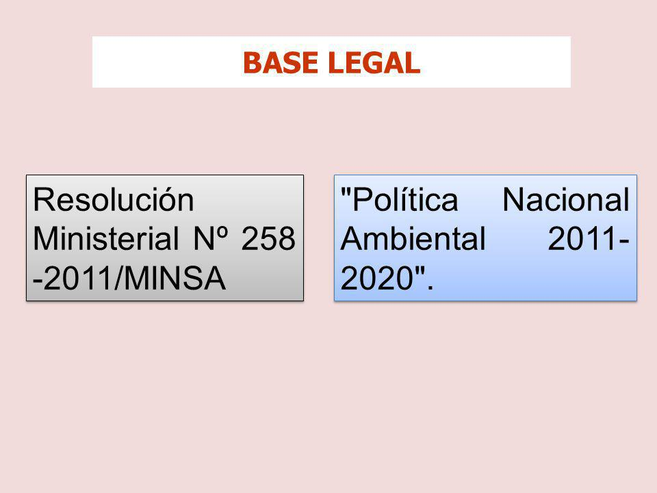 Resolución Ministerial Nº 258 -2011/MINSA