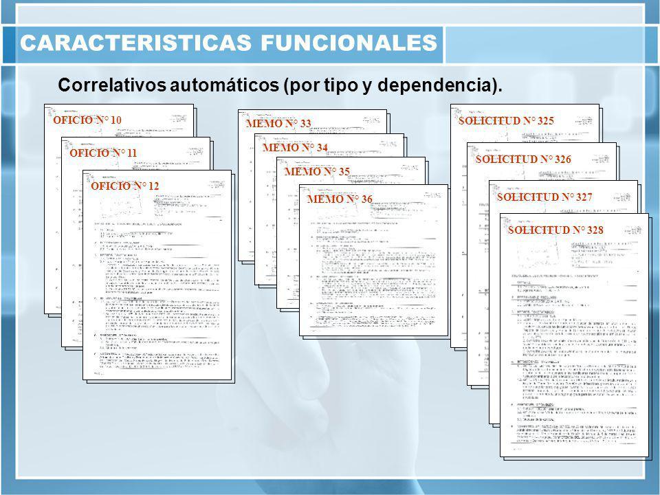 Correlativos automáticos (por tipo y dependencia).