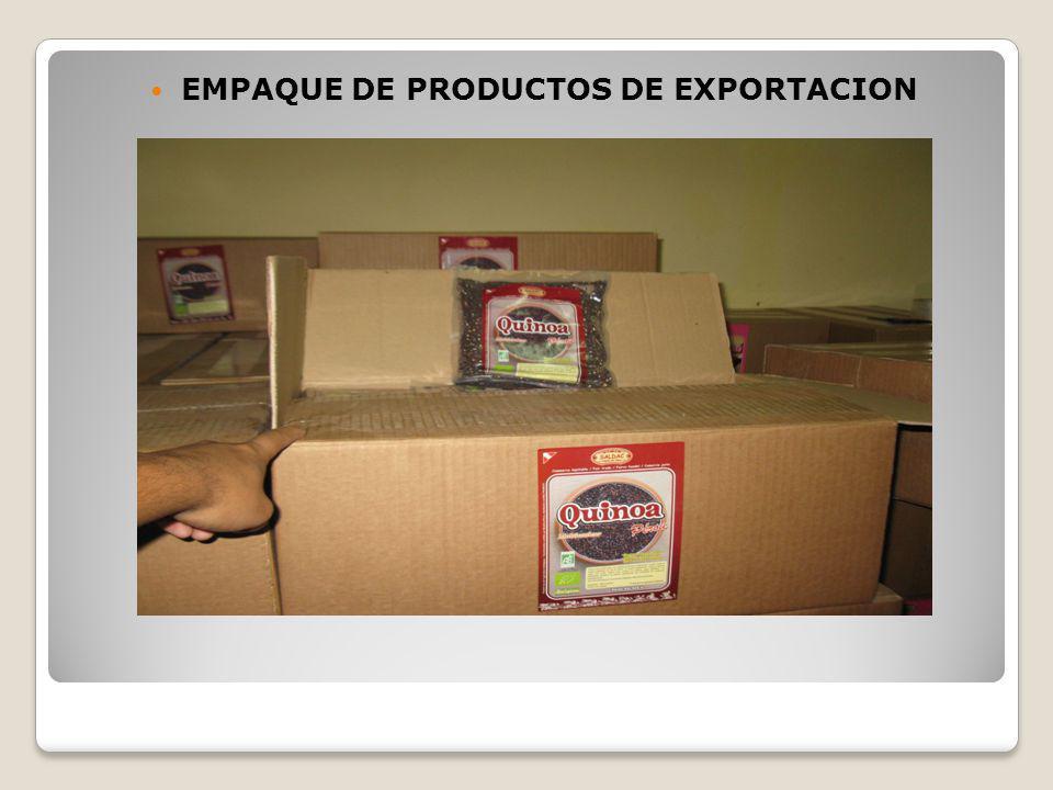 EMPAQUE DE PRODUCTOS DE EXPORTACION