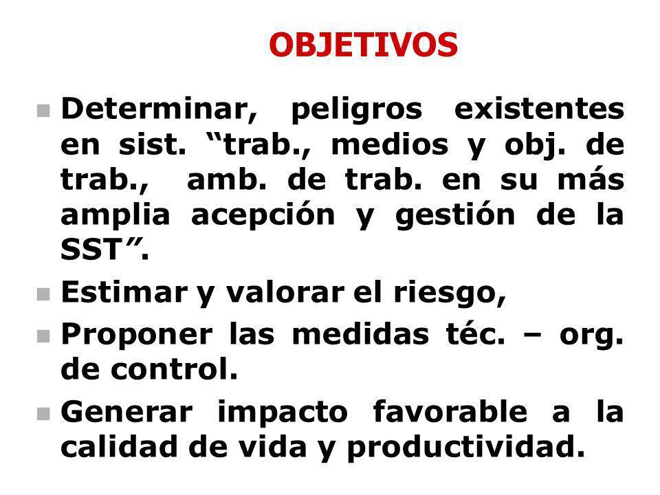 Proceso de Identificación de Peligros, Evaluación y Control de Riesgos Lima, Agosto 2008 DIRECCION GENERAL DE SALUD AMBIENTAL DIRECCION DE SALUD OCUPA