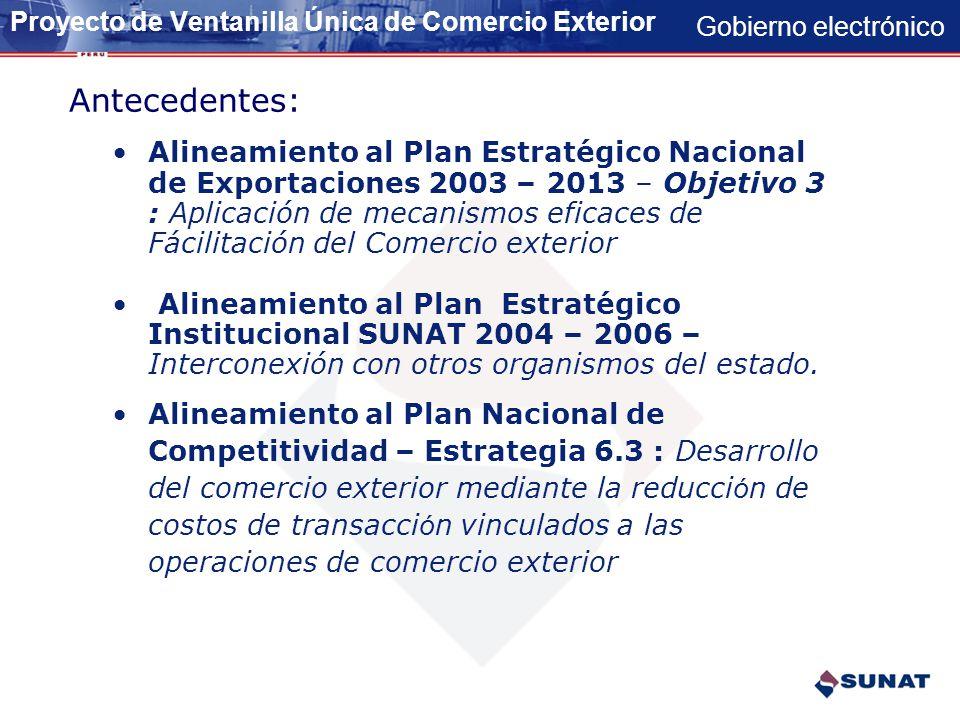 Gobierno electrónico VENTANILLA UNICA DE COMERCIO EXTERIOR