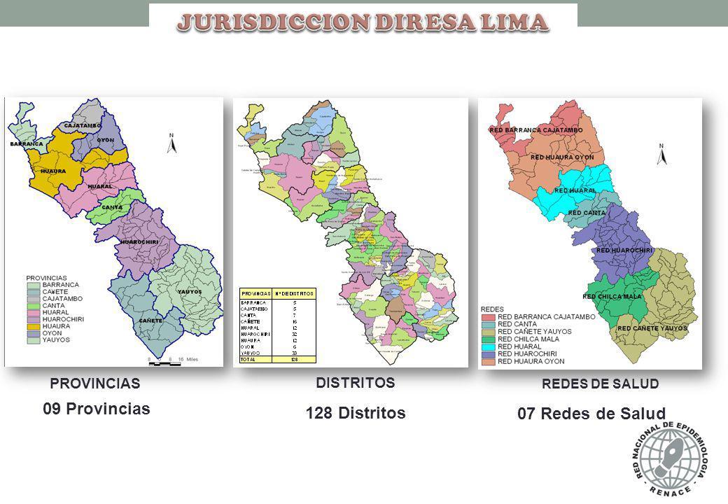N° DE CASOS CONFIRMADOS DE INTOXICACION POR PLAGUICIDAS POR DISTRITOS DIRESA LIMA AÑO 2012 – SE. 46