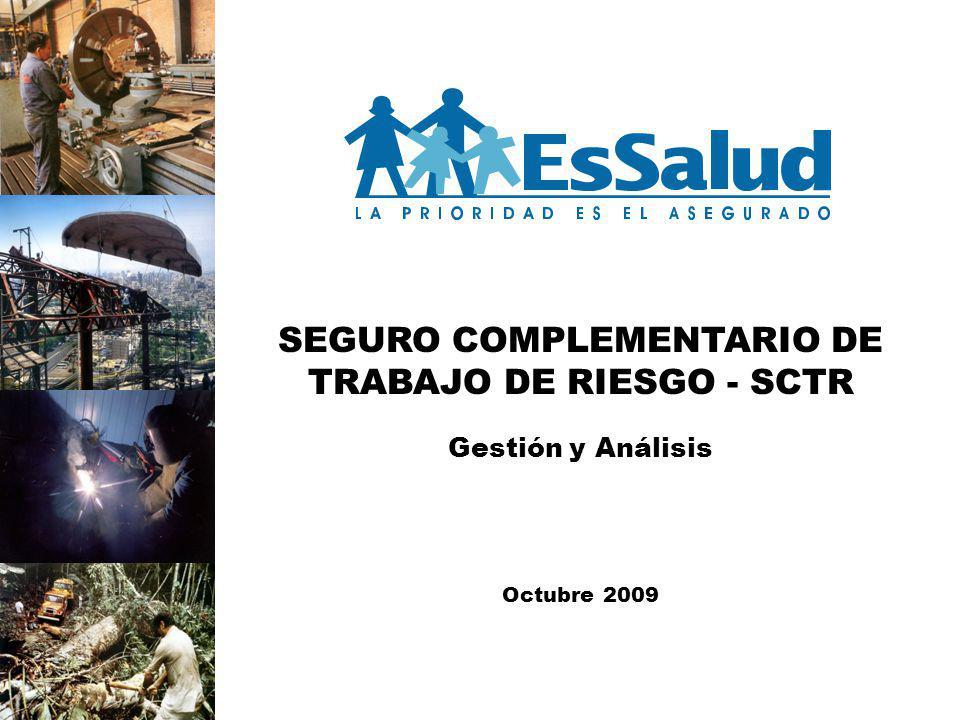 SEGURO COMPLEMENTARIO DE TRABAJO DE RIESGO - SCTR Gestión y Análisis Octubre 2009