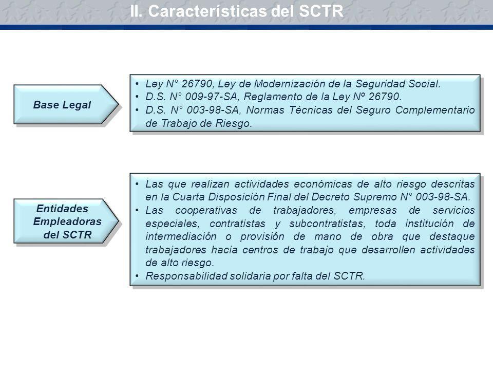 Ley N° 26790, Ley de Modernización de la Seguridad Social. D.S. N° 009-97-SA, Reglamento de la Ley Nº 26790. D.S. N° 003-98-SA, Normas Técnicas del Se