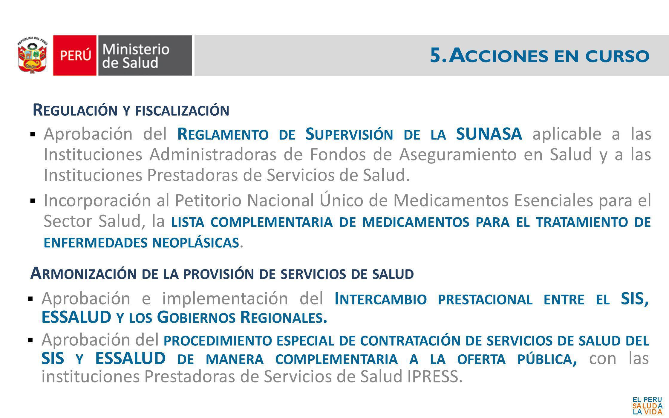 Aprobación del R EGLAMENTO DE S UPERVISIÓN DE LA SUNASA aplicable a las Instituciones Administradoras de Fondos de Aseguramiento en Salud y a las Inst