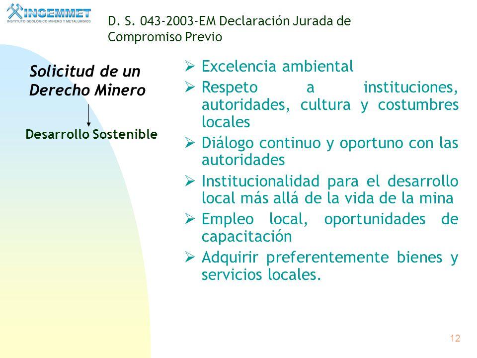 11 D.S. 014-92-EM Procedimiento Ordinario Para Concesiones Mineras Jurisdicción Nacional Descentralizada El procedimiento ordinario para el otorgamien