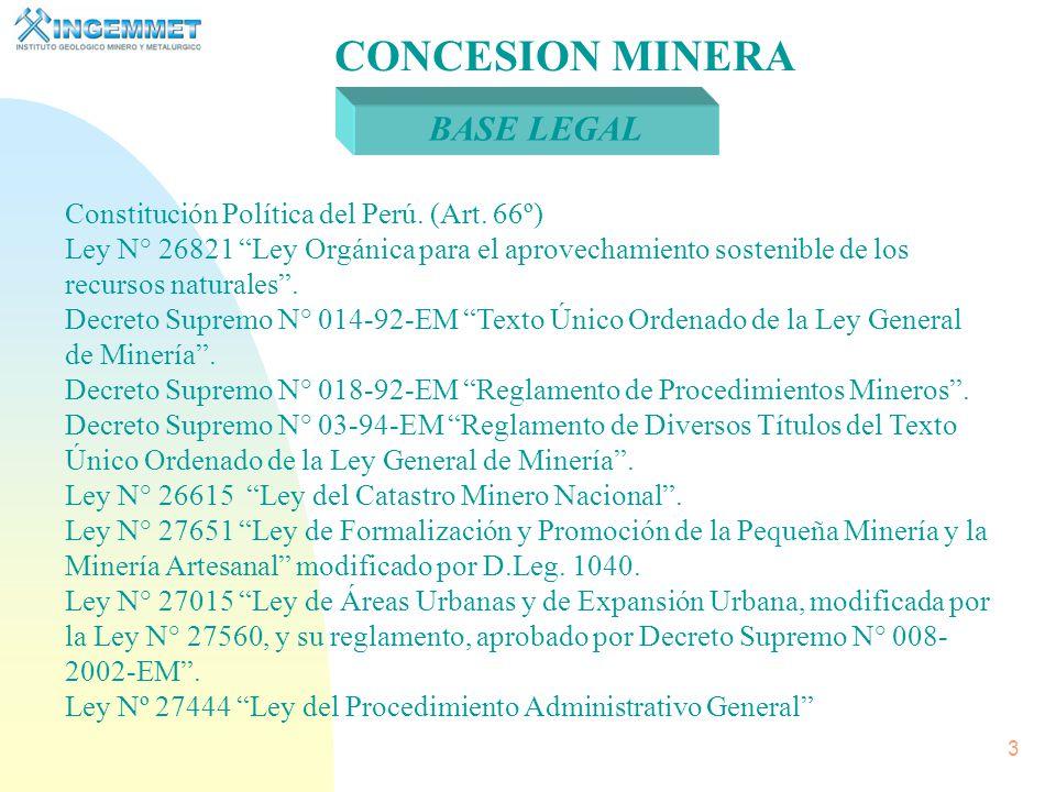 2 Nuestra Misión Otorgar títulos de Concesión Minera, Incorporarlos al Catastro, Administrar el Derecho de Vigencia y Penalidad, Mediante la investigación, procesar, administrar y difundir eficientemente la información geocientífica.