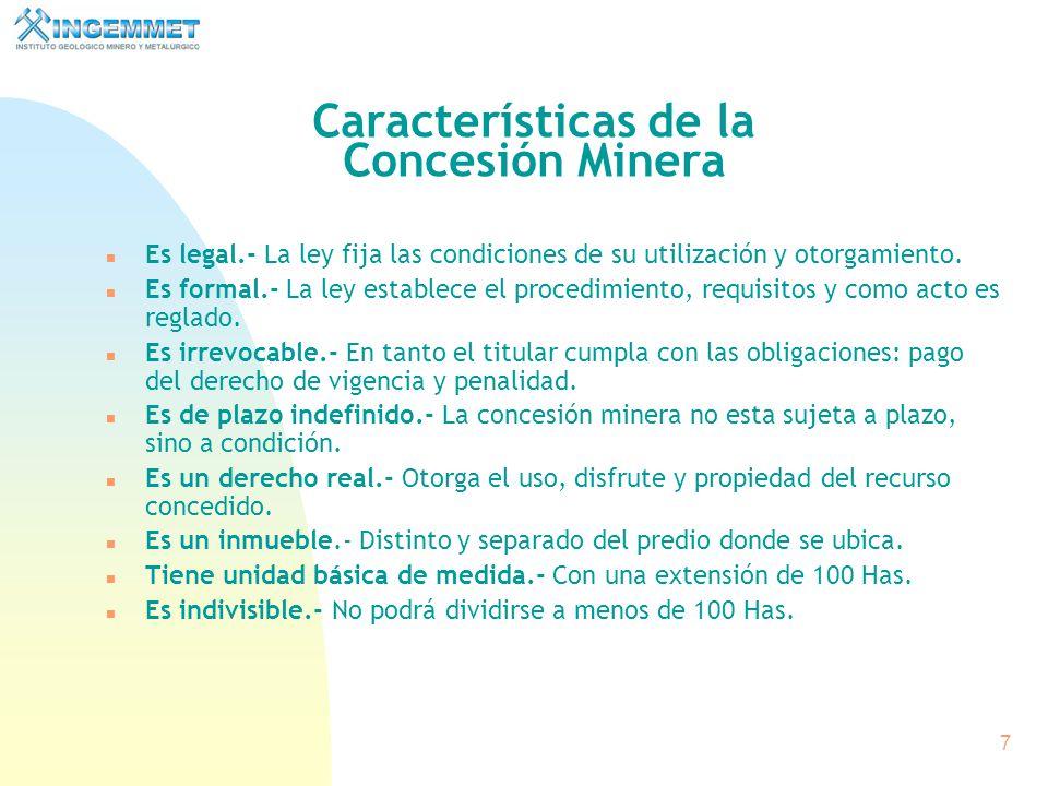 6 La concesión minera otorga a su titular el derecho a la exploración y explotación de los recursos minerales concedidos, que se encuentren dentro de