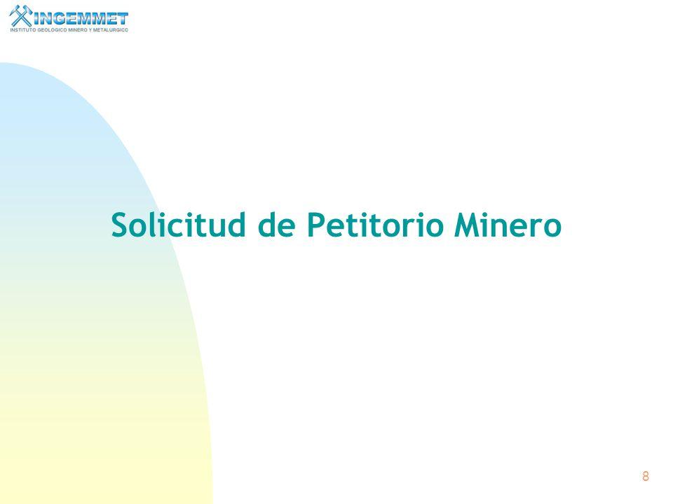 7 Características de la Concesión Minera n Es legal.- La ley fija las condiciones de su utilización y otorgamiento. n Es formal.- La ley establece el